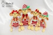 Новогодняя семейка (4 обезьянки)